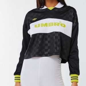 UO Umbro Checkered Cropped Rugby Jersey NWT Medium